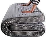 HiiGlife Colchón de látex 5 cm Esteras de Esponja de Engrosamiento Estera del Piso del colchón...
