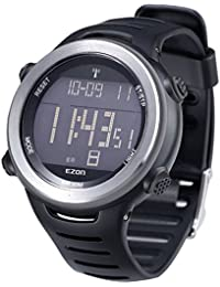 02cd734345a6 EZON Relojes para hombre. EZON L002 A01 cepter de onda deportes al aire  libre resistente al agua multifunción digital reloj. B00WU1NS10