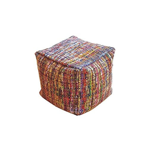 POUF FATTO A MANO mod. BEAN BAG STOOL 020 MULTICOLOR IN COTONE