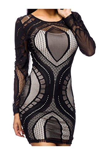 Kleid von Luxury & Good Dessous Schwarz/Hautfarbe