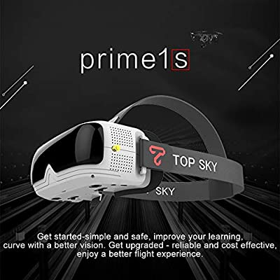 FPV Goggles 5.8G 40CH 2.4 inch Prime1S FPV Headset Glasses Diversity Receiver Built-In Battery DVR For RC Drone