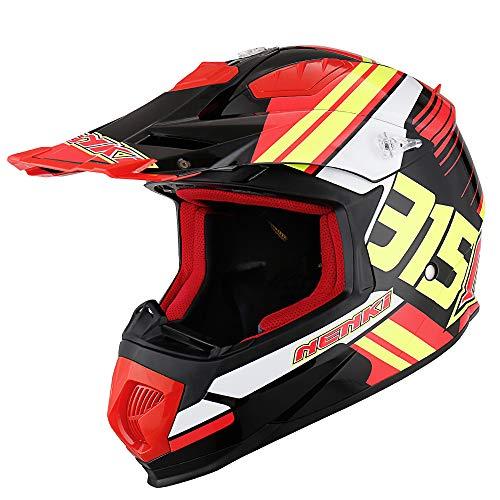 NENKI Casco Motocross NK-315 ECE Omologato Donna Uomo, XL