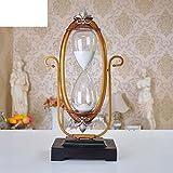 Kreative Retro-Stil Sanduhr Ornamente Harz Antike Uhren Büro Geschenk Ornamente-A