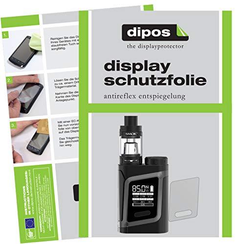 dipos I 2X Schutzfolie matt passend für Smok RHA 85-W Folie Displayschutzfolie
