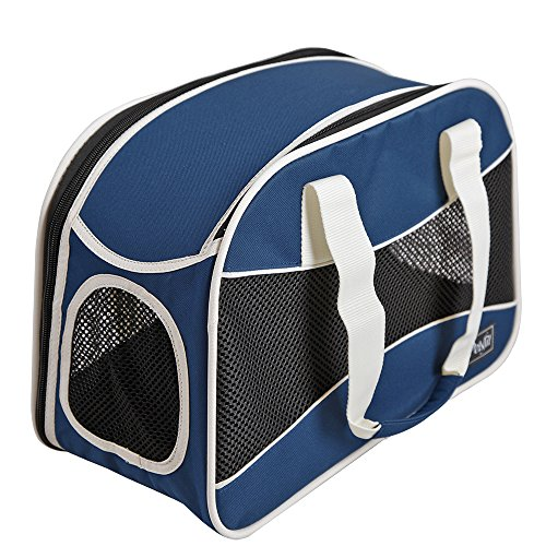 petsfit-pet-portable-carrier-with-fleece-mat-hand-strap-carrier-for-dogs-and-cats-blue-color-42cm-x-