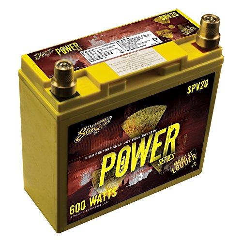 Stinger SPV20 | 12V Autobatterie | Kapazität: 20Ah | 5sec. Startstrom: 300A | CCA: 230A | Typ: AGM | 600W | Inkl. 7,50 EUR Batteriepfand | Ersatz- oder Zweitbatterie -