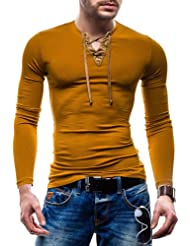 BOLF Herren T-shirt Figurbetont Langarm RONIDA 4663
