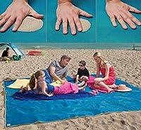 Telo Tappeto Coperta Mare Antisabbia L'Asciugamano Da Spiaggia Che Non Si Insabbia 200x150cm Il materiale di questa coperta da spiaggia è completamente resistente e impermeabile, un compagno perfetto per attività all'aria aperta! È una copert...