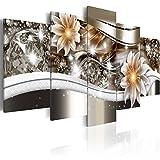 murando - Bilder 100x50 cm - Vlies Leinwandbild - 5 TLG - Kunstdruck - modern - Wandbilder XXL - Wanddekoration - Design - Wand Bild - Blumen b-A-0266-b-n