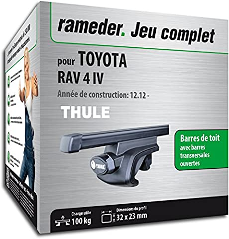 Pack Rameder barres de toit SquareBar pour TOYOTA RAV 4 IV (116010-10996-25-FR)