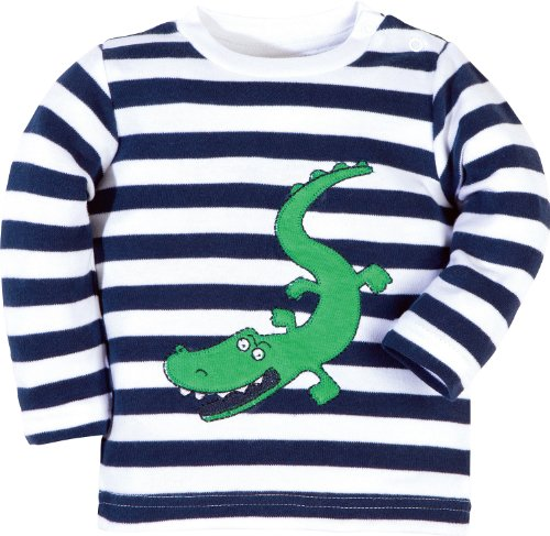 Baby Butt Langarmshirt mit Applikation Krokodil Interlock-Jersey marine Größe 44