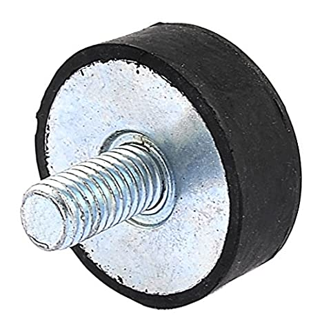 sourcingmap® Filetage mâle M8 Amortisseur caoutchouc Supports Isolation vibratoire 30x10mm
