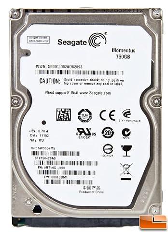 750GB Seagate le disque dur Momentus SATA 2,5 pouces pour ordinateur portable (7200 tr/min, 16MB cache)