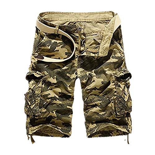 Shorts Herren Reißverschlusstaschen Pure Farbe Draußen Strand Beiläufig Arbeit Cargo Hose -