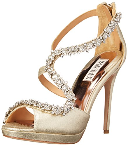 badgley-mischka-flair-ii-damen-us-9-gold-stockelschuhe