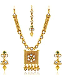 Sukkhi Designer Gold Plated Kundan Necklace Set For Women