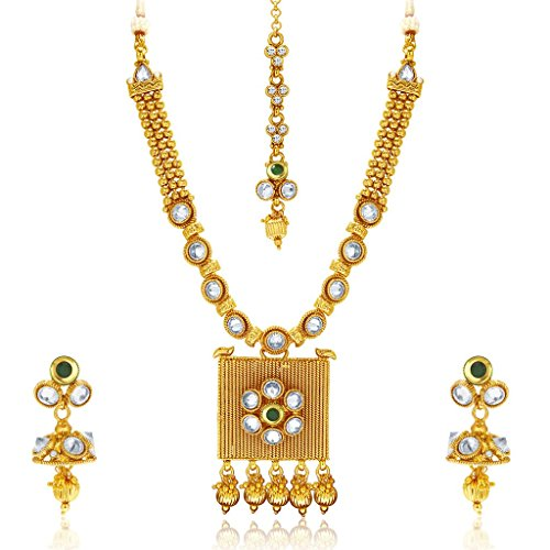 Sukkhi Designer Gold Plated Kundan Necklace Set For Women