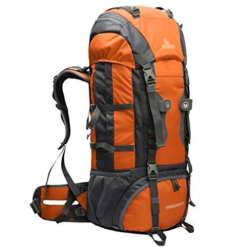 HWLXBB Outdoor Rucksack Sport Reisen Bergsteigen Tasche Walking Wasserdichte Rucksack 60L Rucksack D