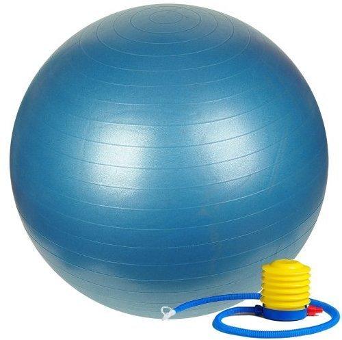 astikball 65 cm Extra Dicker Yoga-Ball und Fitnessbälle Yoga-Ausrüstung und Zubehör für Anfänger, Schweizer Ball, Hilfe mit Schwangerschafts-Ball, blau, 65 cm ()