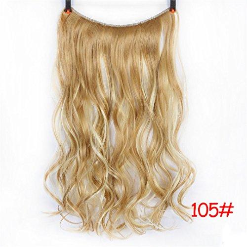 24 Zoll langes Kunsthaar hitzebeständiges Haarteil Fish Line Straight Hair Extensions Geheime unsichtbare Haarteile 1051 24Inches -