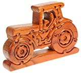 Namesakes Traktor 3D Puzzle - Hergestellt aus Holz - Geschenke für Kinder Jungen Mädchen