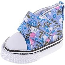 MagiDeal 1 Par Zapatos de Lona Zapatillas de Deporte para 1/6 BJD Muñeca ACCS - 2