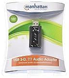 Manhattan 151429 Scheda Audio Stereo USB 2.0 Virtual 7.1 Canali, Nero