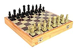 Online Quality Store Chess Board with Wooden Base - Chess Game Board Set with Handcrafted Natural Stone Piece 7 Day offer , 8 Inches