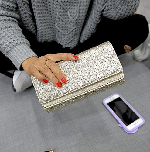 Kaxima Ladies sac main pourcentage de couleur tissé double enveloppe