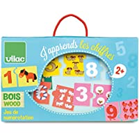 Vilac Vilac2732 12 x 7 cm I Learn Numbers Numbering Game (20-Piece)