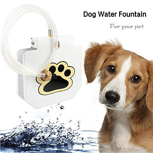 LCPET Pet Fountain Trinkbrunnen Dog Outdoor Water Dispenser Hundedruckpedal Automatische Sprinkleranlage -