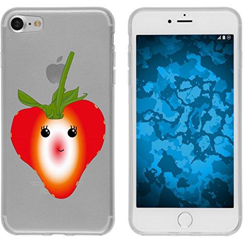 PhoneNatic Case für Apple iPhone 8 Silikon-Hülle Sommer Melone M5 Case iPhone 8 Tasche + 2 Schutzfolien Design:04