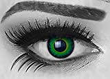 Funnylens 1 Paar farbige Crazy Fun green werewolf Jahres Kontaktlinsen. perfekt zu Halloween, Karneval, Fasching oder Fasnacht mit gratis Kontaktlinsenbehälter ohne Stärke!