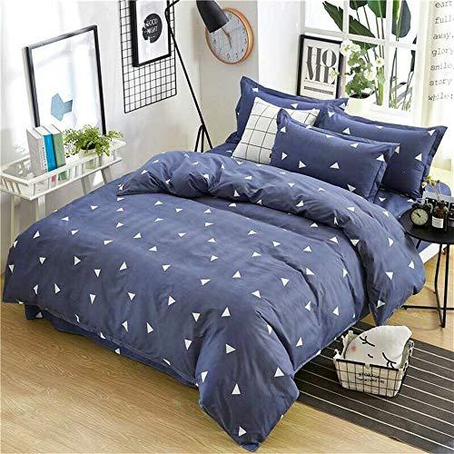 UOUL Bettwäscheset Baumwolle Dunkelblaue Formgebung Einfache 4 Teile Verblassen Nicht Komfort Jugend Schlafzimmer Voll \ Königin,Navy,California King