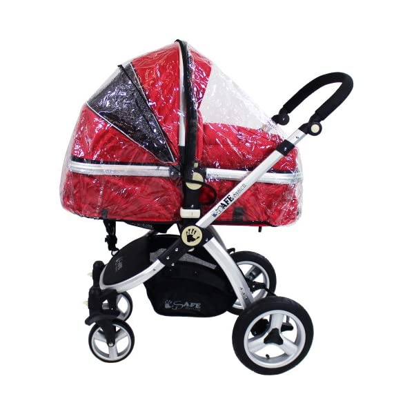 iSafe 2 in 1 Baby Pram System Complete (Red) iSafe 2 in 1 Stroller / Pram Extremely Easy Conversion To A Full Size Carrycot For Unrivalled Comfort Complete With Boot Cover, Luxury Liner, 5 Point Harness, Raincover, Shopping Basket With Closed Ziped Top High Quality Rubber Inflatable Wheels With The Full All around Soft Suspension For That Perfect Unrivalled Ride 9