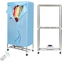 Concise Home Electric Clothes Dryer 1000W Large Capacity 15kg Stainless Steel Energy-Efficient Indoor Wet Laundry Warm…