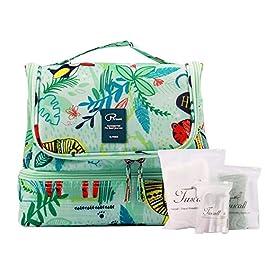Beauty Case da Viaggio Borsa da Toilette Tuscall Borsa da Viaggio Impemeabile Ripiegabile Cosmetico Bag per Donna & Uomo…