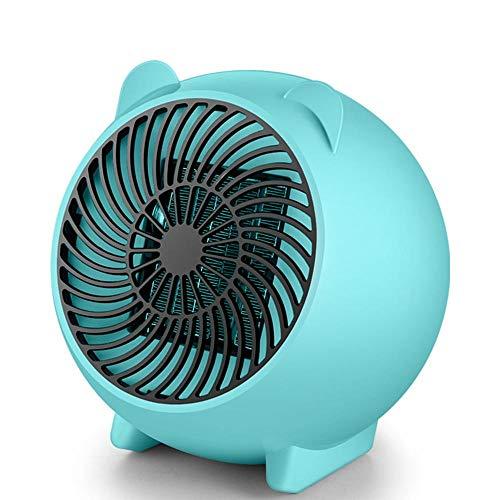 (Teepao heizlüfter Badezimmer energiesparend, raumheizung luftentfeuchter heizlüfter Camping mit Thermostat 250Watt,Schöne klein Keramik raumheizkörper Überhitzungschutz Tragbare Blau)
