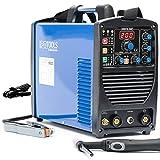 IPOTOOLS ACDCTIG 200P WIG Saldatrice AC DC con 200 Amper, saldatrice digitale inverter con accensione HF, funzione pulsazione, MMA, IGBT