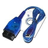 AutoDia K409 Profi USB KKL Diagnose Interface OBD2 OBD für VW AUDI SEAT SKODA kompatibel mit CarPort, VAG-COM bis Version 409, VCDS-Lite, VWTOOL