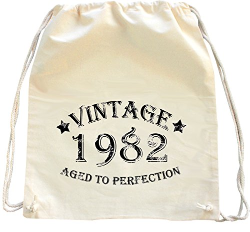 Mister Merchandise Zaino Borsa Sacco Vintage 1982 - Aged to Perfection , Colore: Naturale