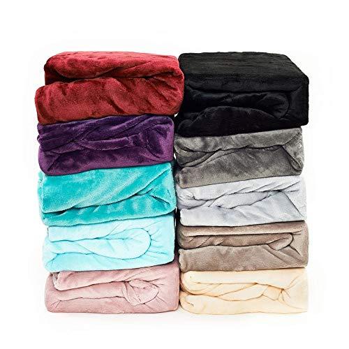 Malika® kuschelige Cashmere-Touch Spannbettlaken Jersey Fleece Spannbetttuch Bett, Kinderbett Couch Flauschiges Laken Tagesdecke, (SCHWARZ,180x200-200x200 cm)