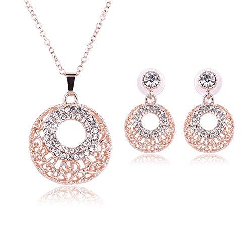 HYHAN Nuovo orecchino collana twin set/nuziale nozze regalo gioielli , rose gold /61152093