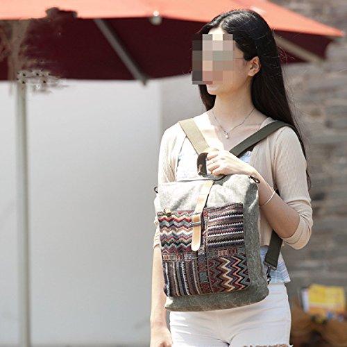 Tela In Tessuto Con Tessuto Ultra-fibre Tessuto Uomo E Donna Borsa A Tracolla Personalizzata Zaino Khaki