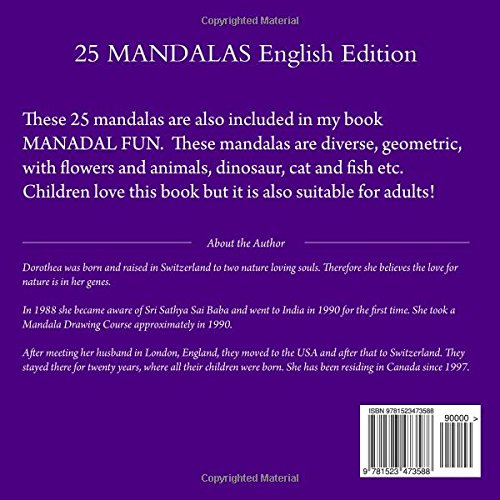 25 MANDALAS English Edition: To Color for Young and Old!: Volume 1