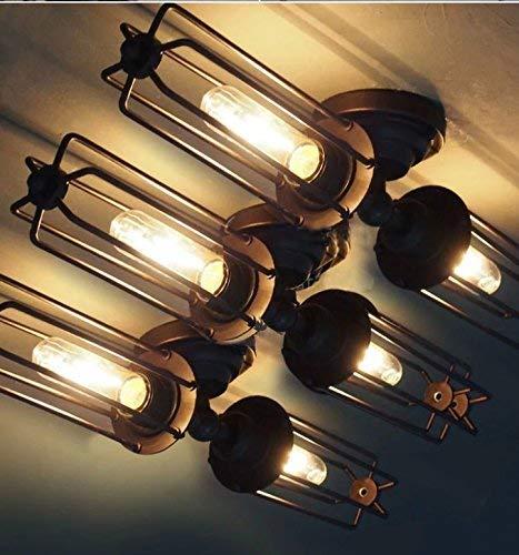Amerikanische ländliche industrielle einfache moderne Retro- Dachbodentreppe lange Eisen Doppelgangkorridor-Wandlampe
