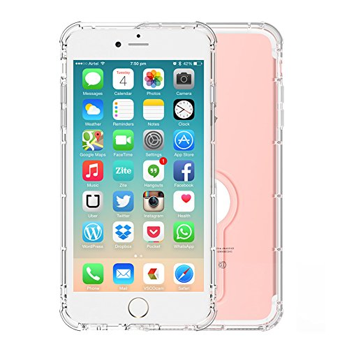 Cover iPhone 6 Plus, Foraco Flessible Custodia Silicone con Supporto, Shock Assorbimento Paraurti, per Apple iPhone 6 Plus 5.5, Crystal Trasparente, Ultra Sottile iPhone 7