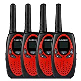 FLOUREON 4X PMR Funkgerät Walkie Talkies 8 Kanäle Walki Talki 2-Wege Radio mit LC-Display Rot