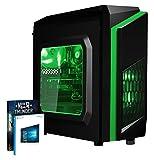 Vibox FX 5 Desktop PC da Gaming, Processore AMD FX 6300, 3.5 GHz, HDD da 1 TB, 8 GB di RAM, Scheda Grafica nVidia GeForce GTX 1050 Ti, Verde