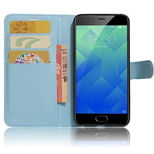 GARITANE Meilan 5/Meizu M5 Hülle Case Brieftasche mit Kartenfächer Handyhülle Schutzhülle Lederhülle Standerfunktion Magnet für Meilan 5/Meizu M5 (Blau)